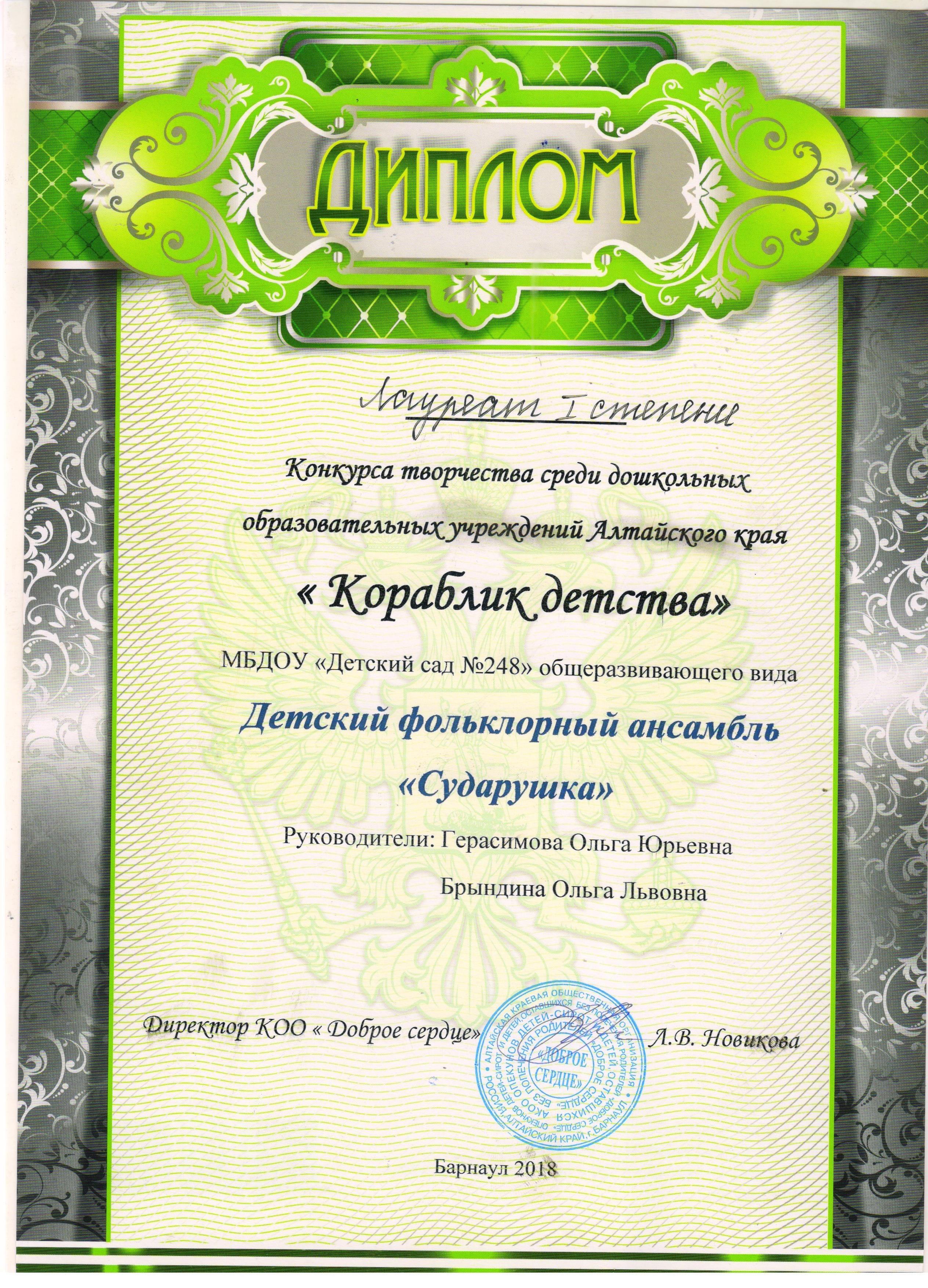 КОРАБЛИК ДЕТСТВА 2018